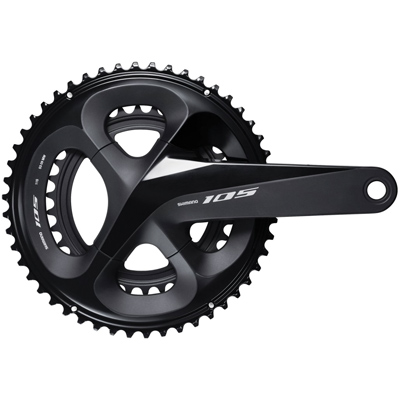 Shimano CrankSet, FC-R7000, 105, for Rear 11-Speed, HollowTECH 2, 170MM, 50-34T w/o Chain Guard, w/o BB, Black