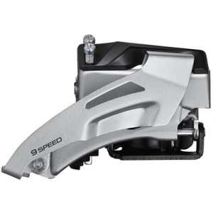 Shimano Front Derailleur, FD-M2020-TS, Altus, 2X9, Top-Swing, DUAL-Pull, 34.9MM Band Type 34.9MM(w/S&M ADPT), CS-Angle:64-69,for TOP:36T, CL:48.8/51.8MM