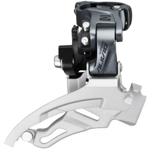 Shimano Front Derailleur, FD-M4000, Alivio,Down-Swing DUAL-Pull, for Rear 9-Speed, Band-Type 34.9M(w/31.8 & 28.6MM Adapter), for 40T, CS-Angle:66-69