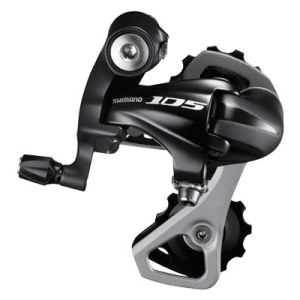 Shimano Rear Derailleur, RD-5701-L, 105, SS 10-Speed Direct Attachment, Compatible with Low Gear 25-30T for Double, Black