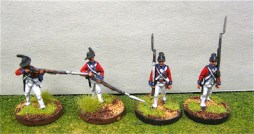 British Guards centre co. firing line