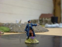 Highland Officer in greatcoat