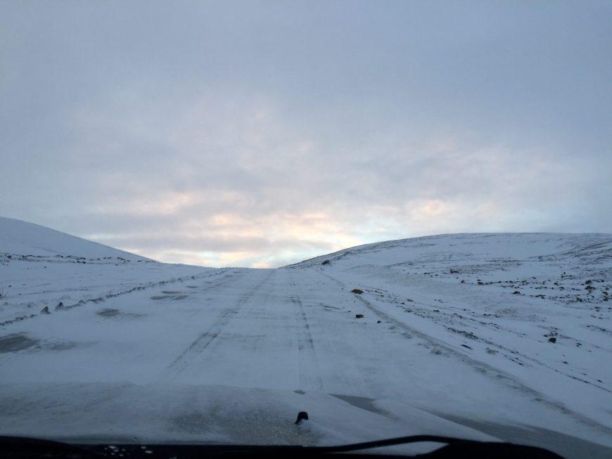 Route vers le lac Kleifarvatn - Islande