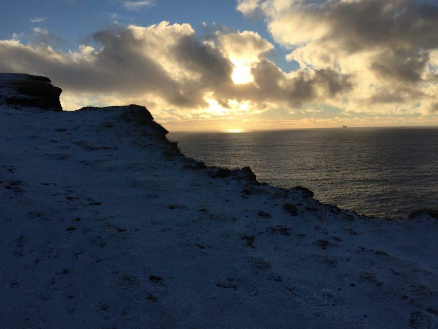 Falaise Gunnhuver - Islande