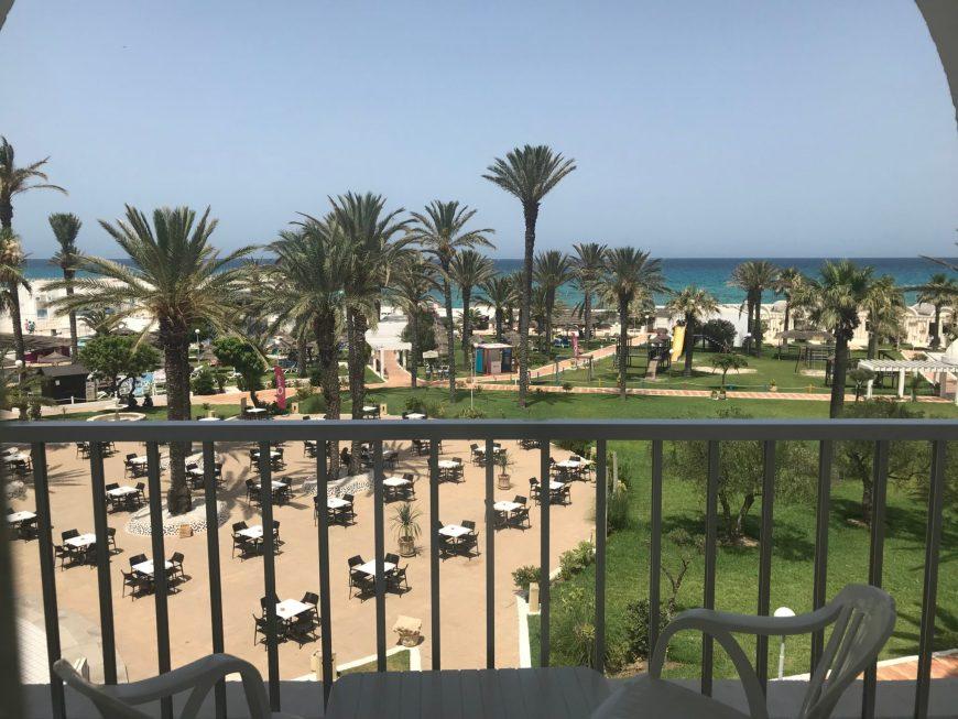 Tunisie en famille all Inclusive: la vue depuis notre chambre