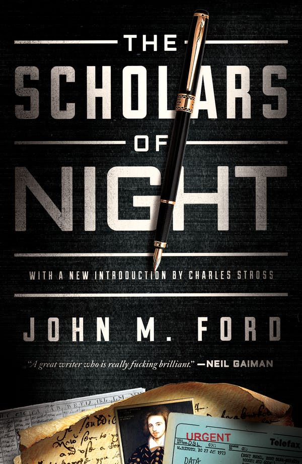 The cover of John M Ford's 'Scholars of the Night.'