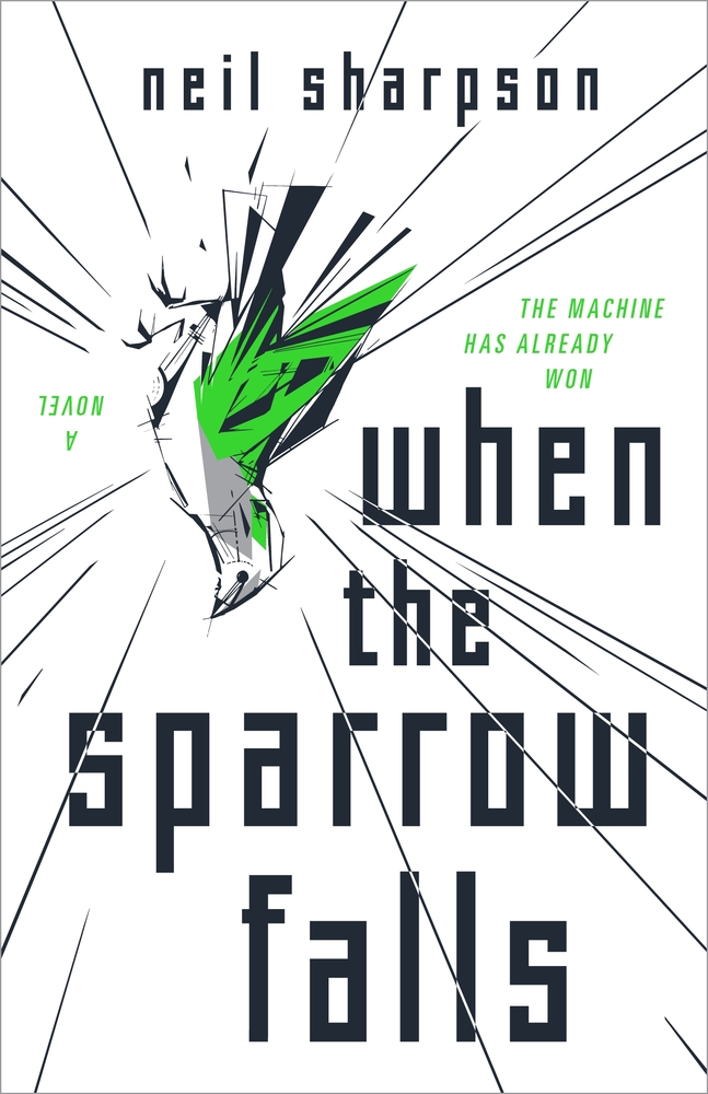 The cover of Neil Sharpson's 'When the Sparrow Falls.'