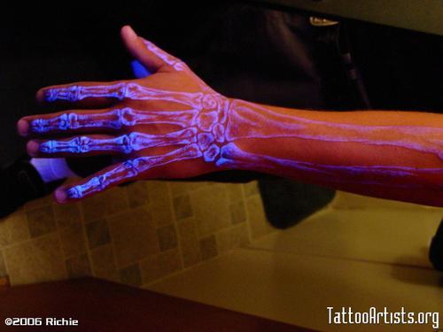 Tattoos - UV Blacklight Ink (via Street