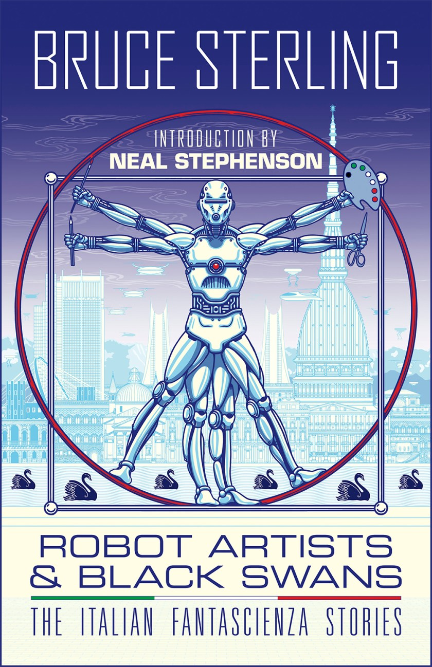 The cover of Robot Artists & Black Swans.