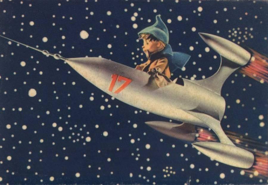 Soviet Space-program Christmas Cards / Boing Boing