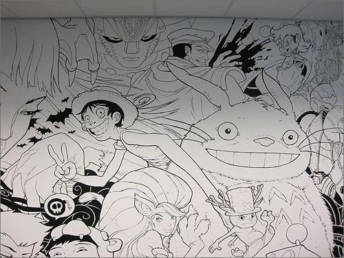 Gamer Anime Mural Boing Boing