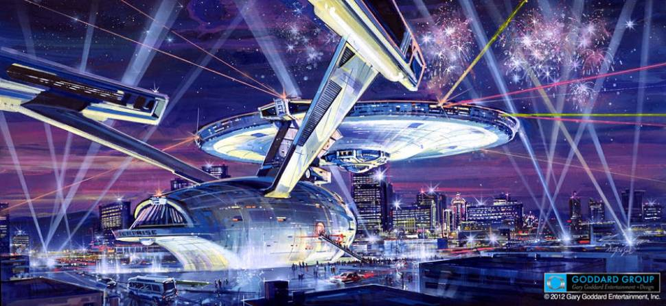 Secret history of the near-construction of a lifesized Starship Enterprise in downtown Las Vegas