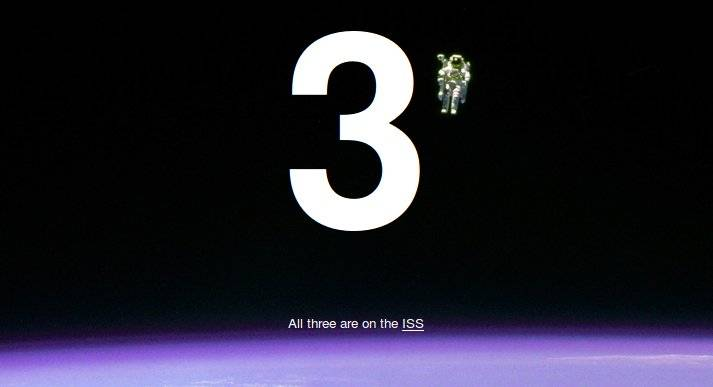 How many people are in space? / Boing Boing