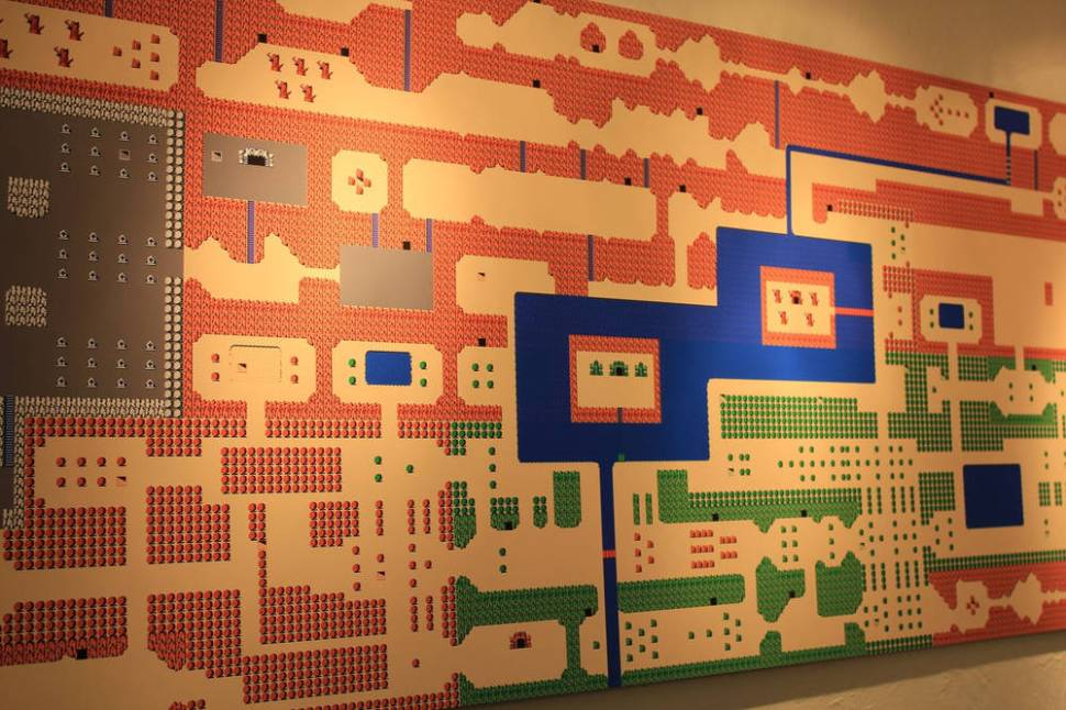 Giant NES Zelda map wall-hanging / Boing Boing
