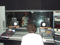 Engineer Stu and Johnny lay track