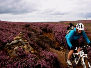 Riding amongst the heather, Yorkshire