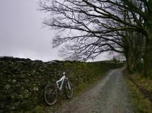 foggy bridleway to Jenkin Crag
