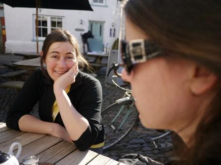 Chatting at Cartmel