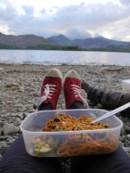 Noodles with a view
