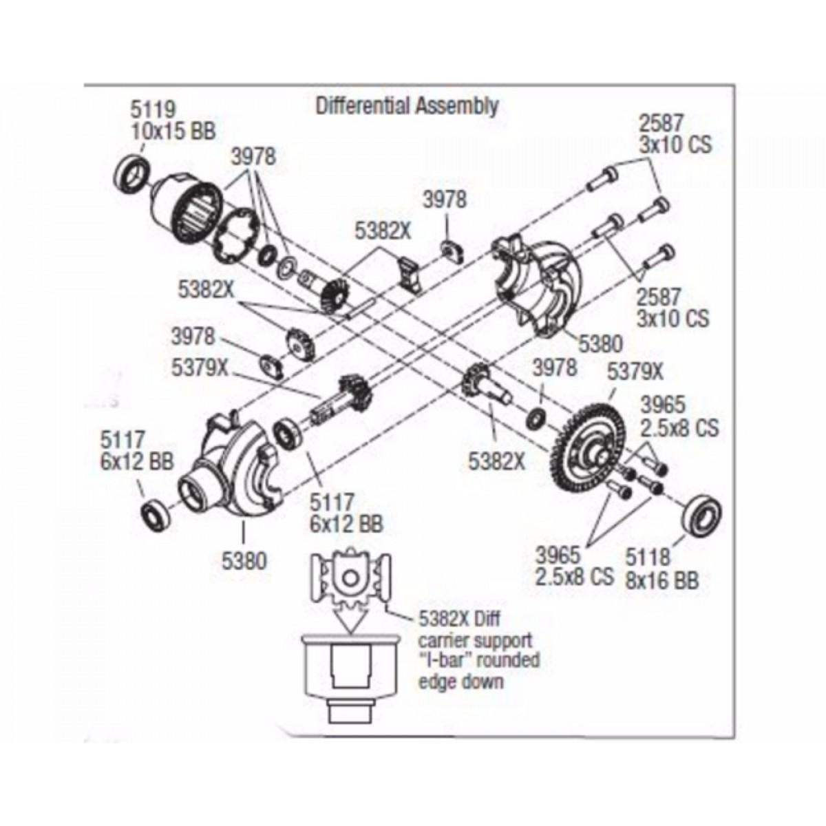 Rvo11x06 Aluminum Differential Carrier Case