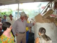 Atividades em grupo para organização do local de armazenamento do material reciclável