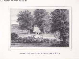 Krobielowice: Generalfeldmarschall Blücher's Alterruhesitz and burial site