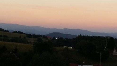 Der Blick vom Lázek in Richtung Osten...