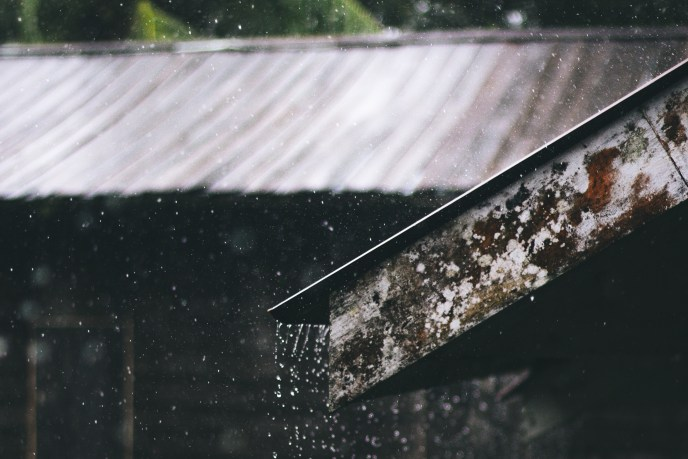 house during a rainy day