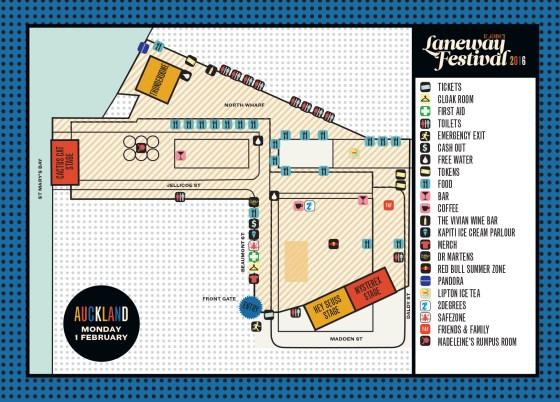 Laneway Festival 2016 Map