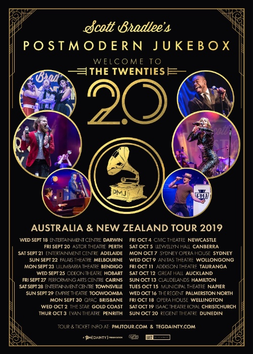 Scott Bradlee Announces Postmodern Jukebox Cast To Tour New Zealand And Australia On The Welcome To The Twenties 2 0 Tour Crave