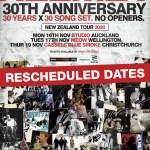 Helmet rescheduled New Zealand dates