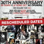Helmet rescheduled New Zealand dates
