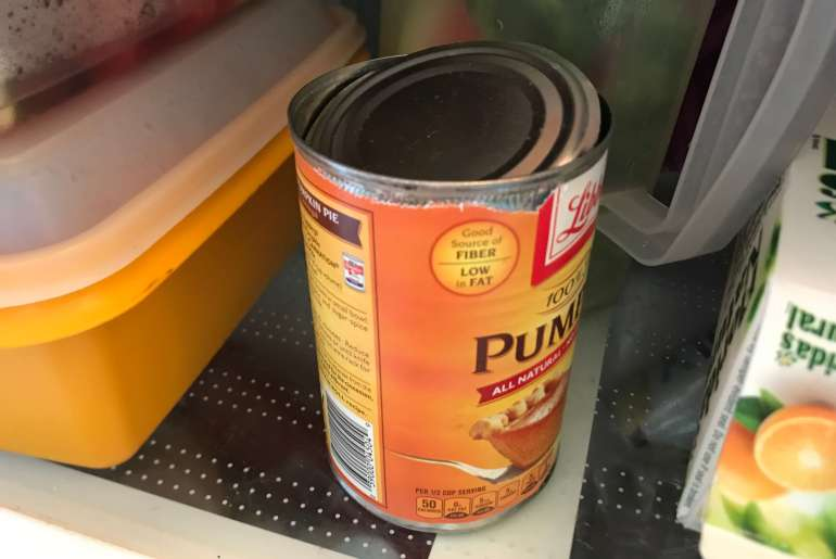 Can you store open tin cans in the fridge?