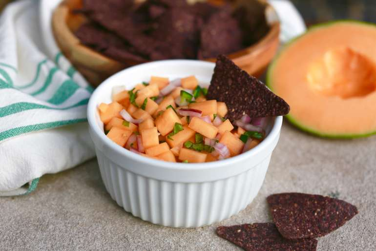 Cantaloupe salsa sweetens up end up summer celebrations3