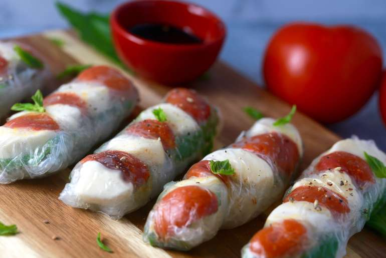 Caprese Summer Rolls are the newest must-have recipe for warm weather days