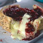 Cranberry baked brie pull-apart bread bowl appetizer