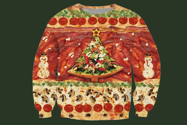 Food-themed ugly Christmas sweaters for all your holiday get togethers
