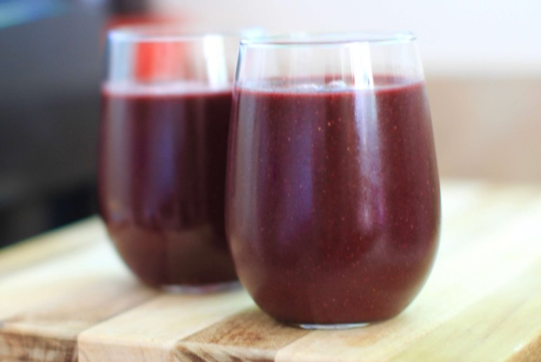 Watermelon, Mulberry, Lime Smoothie is light and refreshing by Everybody Craves.
