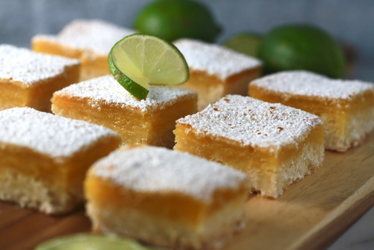 Lovely lime squares bring just enough zing