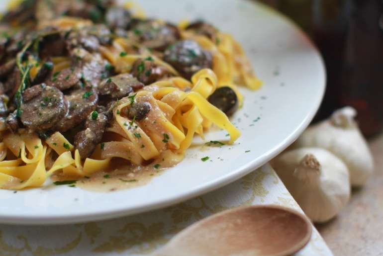 Mushroom stroganoff is a vegetarian dish to cozy up to