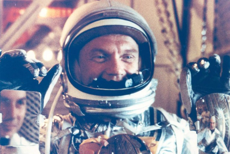 NASA Astronaut John Glenn and the first meal eaten in space