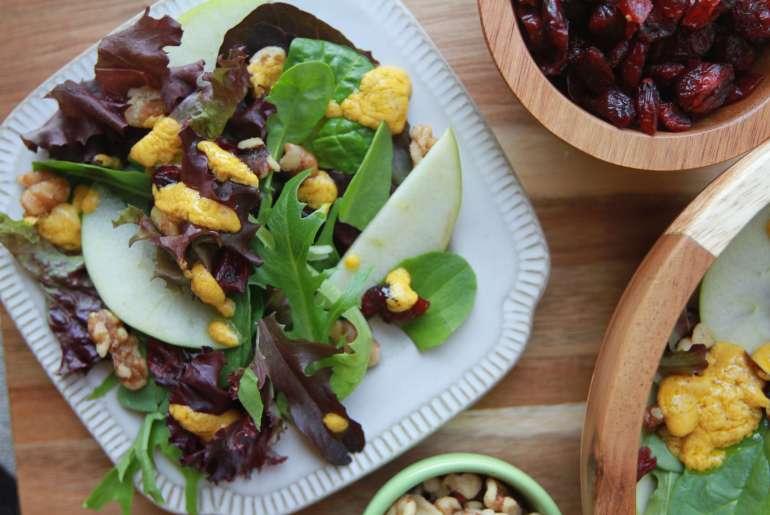 Pumpkin spice ranch-style salad dressing