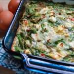 Spinach, egg, artichoke breakfast casserole
