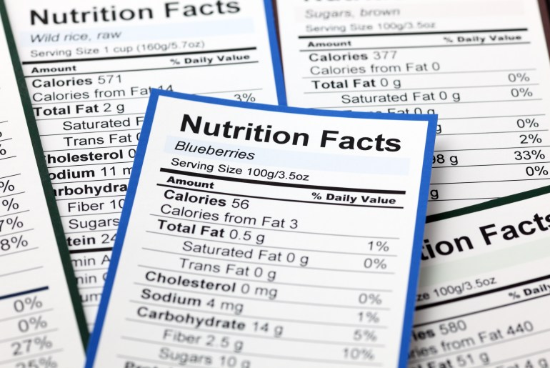 Study shows Nutrition labels aren't used by many young adults