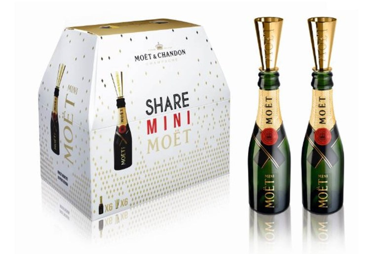 Moet now sells 6-pack mini champagne bottles by Everybody Craves