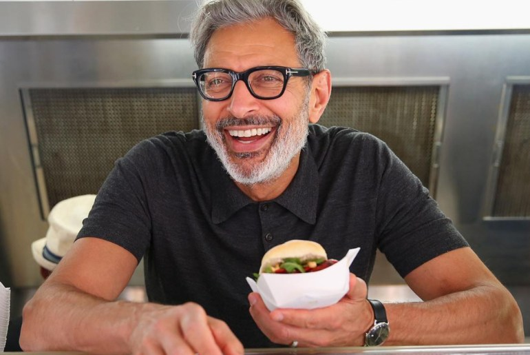 Jeff Goldblum serves up sneaky sausage from food truck in sydney by Everybody Craves