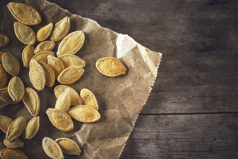 Perfectly roasted pumpkin seeds three ways