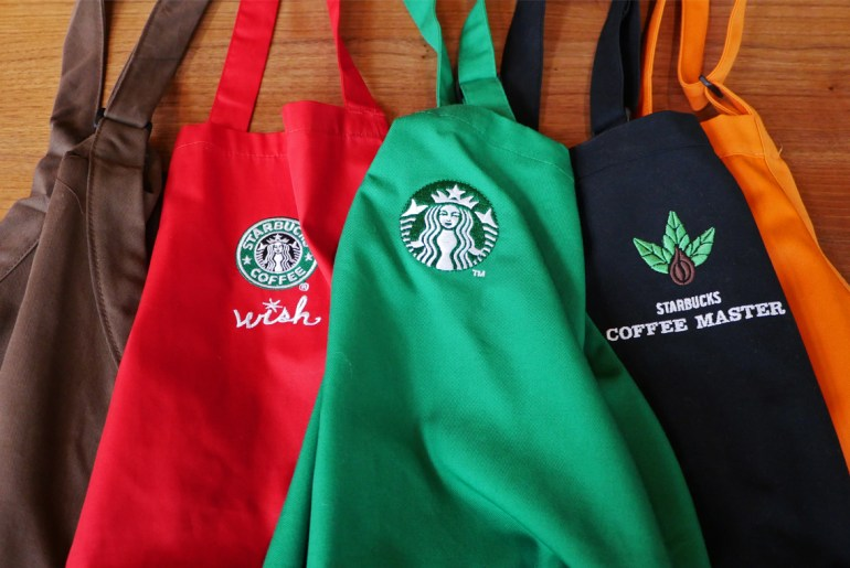 The secret behind the starbucks apron colors by Everybody Craves