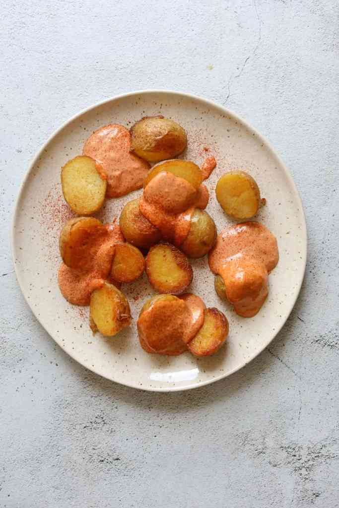 Oven-Roasted Patatas Bravas with Smokey Tomato Aioli