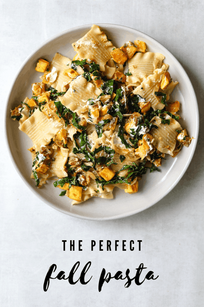 The Perfect Fall Pasta with Delicata Squash, Pancetta, and Goat Cheese